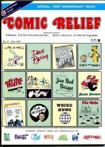 Comic Relief #12 1990-Calvin & Hobbes-political cartoons-Toles-Doonesbury-FN/VF