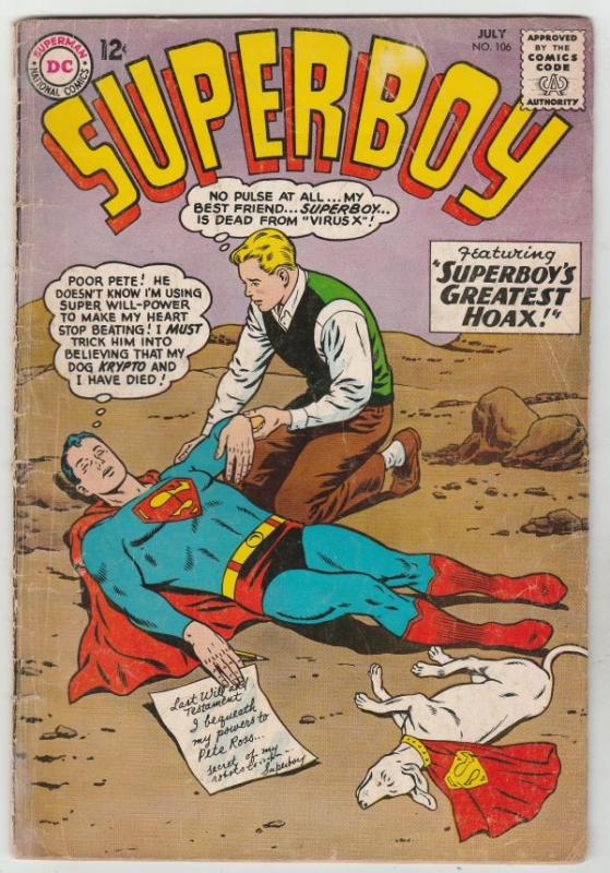 Superboy #106 (Jul-63) VG+ Affordable-Grade Superboy