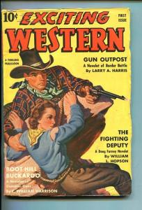EXCITING WESTERN-#1-FALL-1940-PULP-SPICY GGA-SOUTHERN STATES PEDIGREE-vf