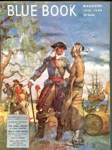 BLUE BOOK PULP-JULY 1948-VG/FN-STOOPS COVER-BEDFORD-JONES-PEACOCK-SWINTON VG/FN