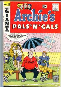 Archie's Pals 'n' Gals #22 1962-MLJ-Betty-Veronica-Giant issue-VG/FN