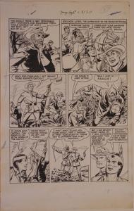ARTHUR PEDDY original art, YOUNG EAGLE #6, pgs 13-20, 1951,8 pgs, Indian,US Army