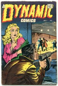 Dynamic #1 1964- Golden Age Reprint- Tommy gun cover- Yankee Girl VG