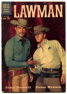 Lawman #3 1960- Dell Western- John Russell- Peter Brown G/VG