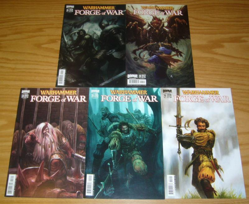 Warhammer: Forge of War #1-5 VF/NM complete series - all A variants 2 3 4 set
