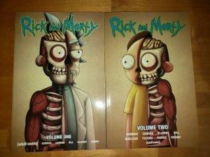 Rick & Morty Volume 1 & 2 TPB (2016 ONI) Graphic Novel Julieta Colas Variant Set