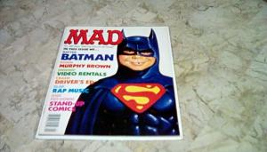 MAD Magazine #289 September 1989 BATMAN COVER FREE EXPEDITED SHIPPING