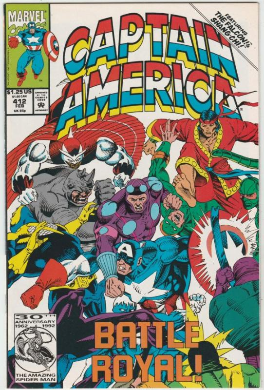 Captain America #412 (Feb-93) NM/MT Super-High-Grade Captain America