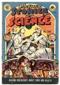Picture Stories From Science #2 1947- EC comics- horror motif VG/F