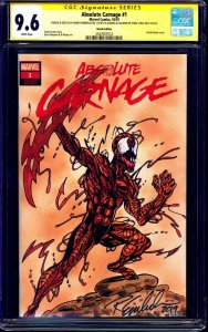 Absolute Carnage #1 BLANK CGC SS 9.6 signed ORIGINAL SKETCH Randy Emberlin LYDIC