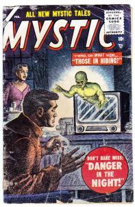 MYSTIC #44 1956-ATLAS-BILL EVERETT FLYING SAUCER UFO STORY