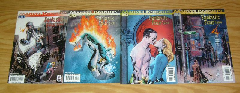 Fantastic Four: 1 2 3 4 #1-4 VF/NM complete series - grant morrison  jae lee 2 3