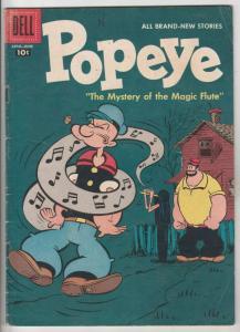 Popeye #40 (Apr-57) FN Mid-Grade Popeye, Olive Oil, Swee'pea, Jeep, Whimpy