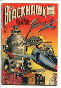 BLACKHAWK  #91-1955-ROBOTIC TERROR COVER-vg