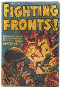 Fighting Fronts #2 1952- Violent Golden Age War Comic G