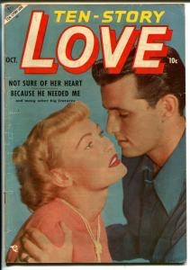 Ten-Story Love Vol. 32 #5 1953-Ace-former pulp-spicy romance art-photo cover-VG