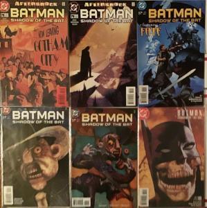 BATMAN:SHADOW OF THE BAT (DC)#59-60,#69-70,#78-79,#75.3 2 PARTERS PLUS #75 NM+