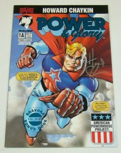 Power & Glory 1 VF blue foil variant signed by Howard Chaykin bravura bonus book