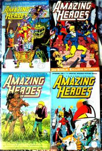 AMAZING HEROES #21-143, 30 diff (1983-1988)-history of comics YOU ARE THERE F/+