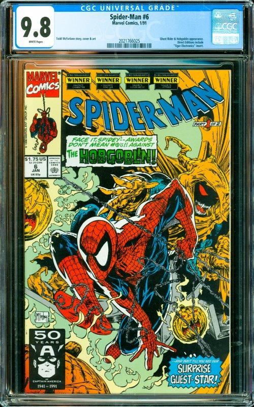 Spider-Man #6 CGC Graded 9.8 Ghost Rider & Hobgoblin appearance.