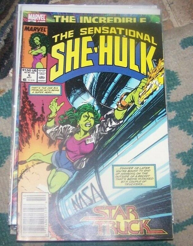 The Sensational She-Hulk # 6 oct 1989, Marvel JEN WALTERS star truck john byrne