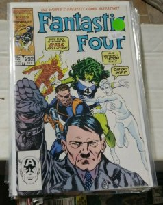 FANTASTIC FOUR #292 1986 MARVEL NICK FURY KILLS HITLER + SHE HULK BYRNE