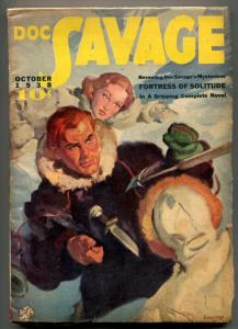 Doc Savage Pulp October 1938- FORTRESS OF SOLITUDE F/VF