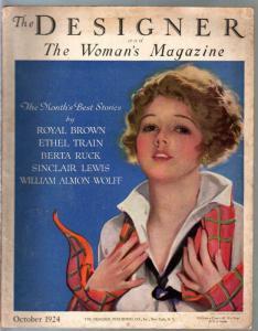 Designer & Woman's Magazine 10/1924-fashion-accessories-pulp=VG