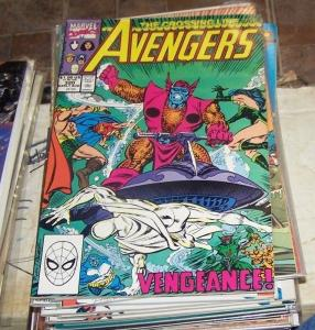 Avengers # 320 (Aug 1990, Marvel) atlantis atuma quasar cap vision hercules