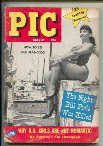 Pic 3/1958-Jayne Mansfield-Motorcycle Ice racing-Radioactivity-Shanghai-Patti...