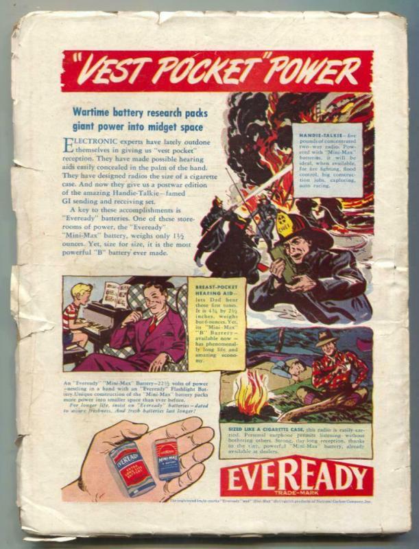 Thrilling Western Pulp March 1946- Range Terror VG-