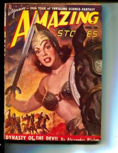 Amazing Stories-Pulp-6/1949-Alexander Blade-George Grauman