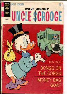 Uncle Scrooge  #73 1968-Gold Key-Walt Disney-Carl Barks art-GOOD