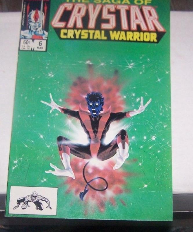 Saga of Crystar, Crystal Warrior #6 (Mar 1984, Marvel) rare nightcrawler xmen ap