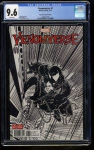 Venomverse #1 CGC NM+ 9.6 McFarlane Remastered 1:2000 B&W Sketch Variant!