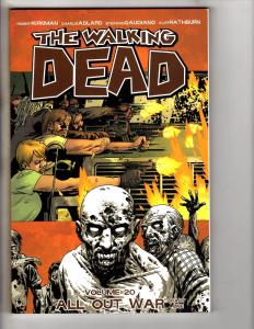 The Walking Dead Vol # 20 TPB Image Graphic Novel 1st Print All Out War P1 J278