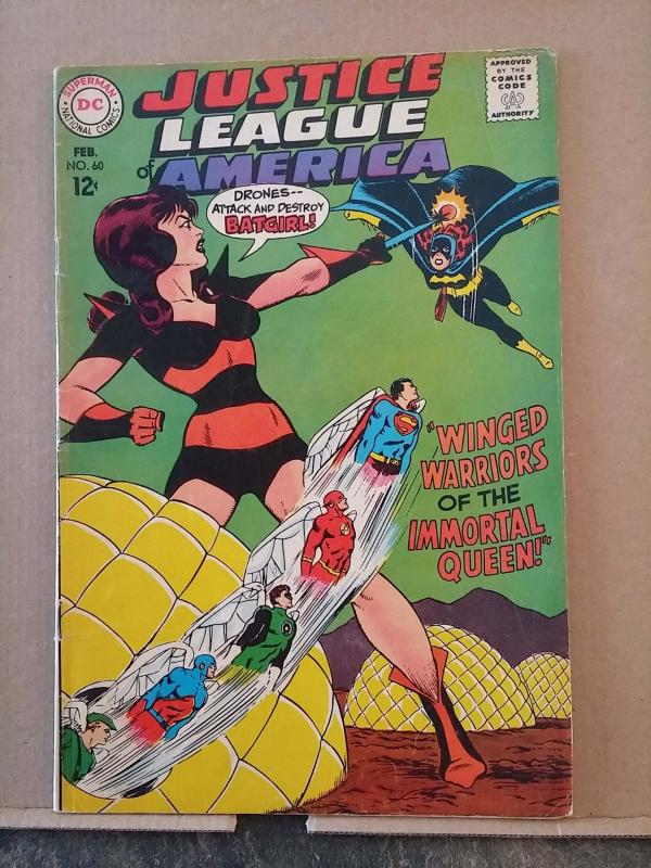 JUSTICE LEAGUE OF AMERICA #60 grade 5.5 - Early Batgirl Cover rd0959