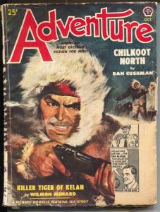 Adventure 10/1949-Popular-pulp fiction- Dan Cushman-John Prescott-VG