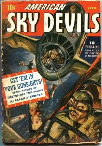 AMERICAN SKY DEVILS #5--4/1943-RED CIRCLE MARVEL PULP-NORMAN SAUNDERS ART-WW ll
