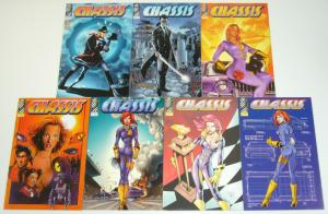 Chassis vol. 3 #1-5 VF/NM complete series + (2) variants - car racing bad girl
