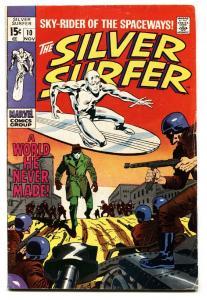 Silver Surfer #10 comic book 1969-Marvel-Military cover-John Bucsema art VG