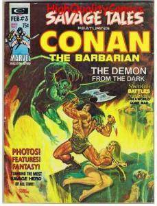 SAVAGE TALES #3, FN, Conan, Sonja, Barry Smith, Jim Steranko