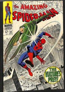 Amazing Spider-Man #64 GD/VG 3.0 Vulture!