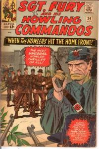 SERGEANT FURY 24 FR-G Nov. 1965 COMICS BOOK