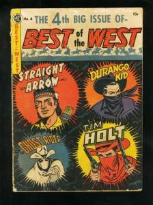 BEST OF THE WEST #4 1952-GHOST RIDER-DURANGO-TIM HOLT-STRAIGHT ARROW-good minus
