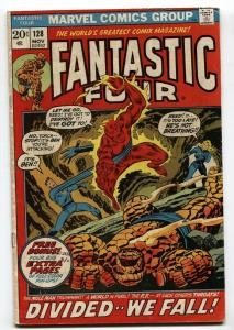 FANTASTIC FOUR #128 comic book-1972-REED-TORCH VG/FN