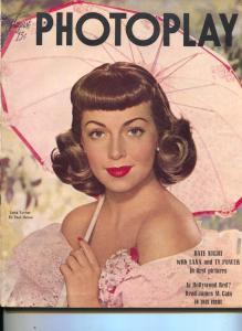 Photoplay-Lana Turner-James Stewart-June Haver-Peggy Cummins-Aug-1947