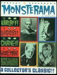 MONSTERAMA #1 1991-FOREST J ACKERMAN-KARLOFF-LUGOSI--SF VF/NM