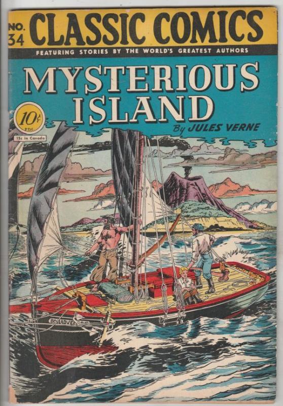 Classic Comics #34 (Jun-49) FN- Mid-Grade