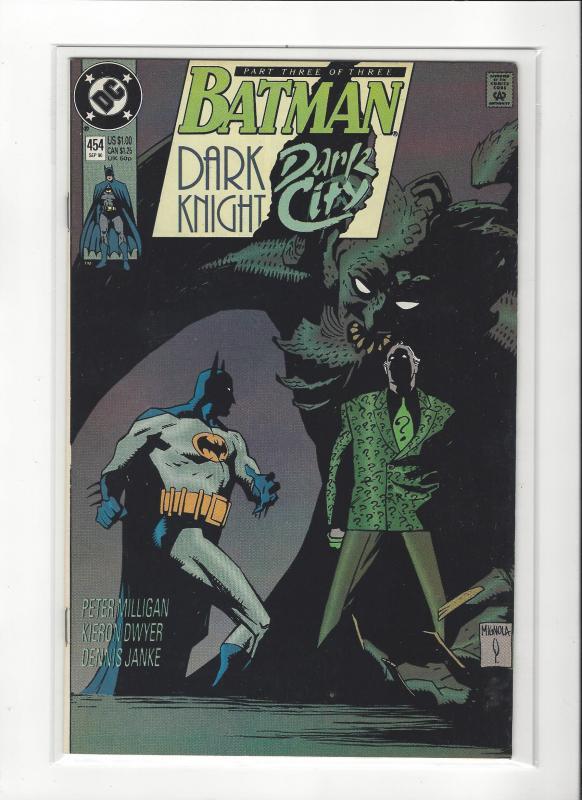 BATMAN #454 DARK KNIGHT DARK CITY  NM Nice Copy